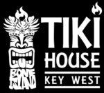 tiki house with black background