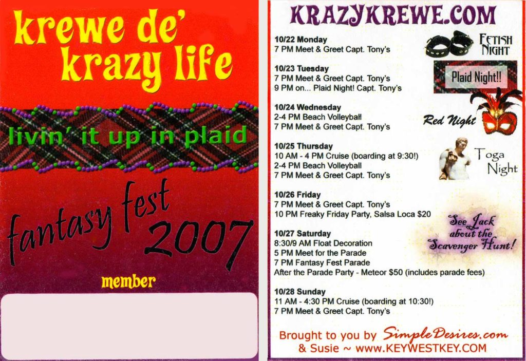 Krewe Badge 2007