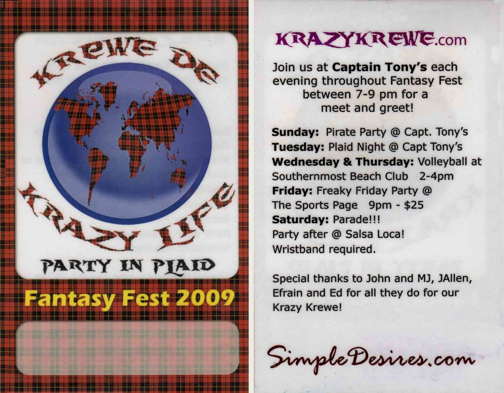 Krewe Badge 2009